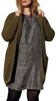 Junarose Woven Open-Front Cardigan