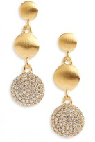 Dean Davidson Signature Pave Triple Drop Earrings