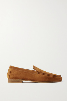 KHAITE Suede Loafers - Tan