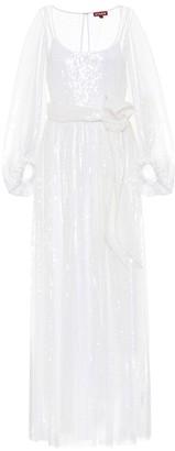 STAUD Sequined maxi dress