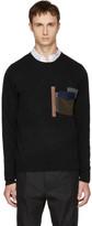 Kolor Black Patchwork Pocket Sweater