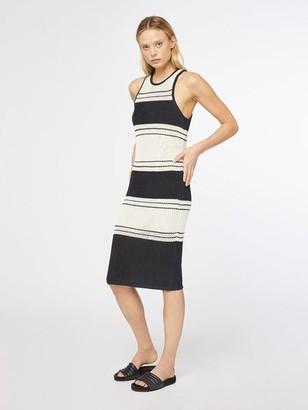 Frame Open Knit Stripe Dress