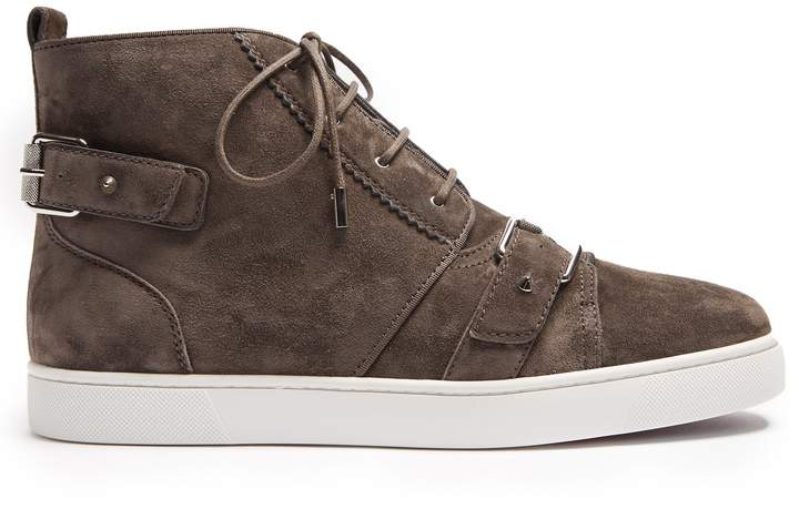 Christian Louboutin Nono high-top suede trainers