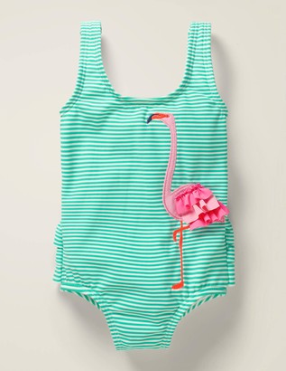 Ruffle Applique Swimsuit
