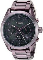 Nixon Women's A3662172 Bullet Chrono Analog Display Japanese Quartz Purple Watch