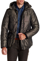 Scotch & Soda Quilted Long Hooded Jacket