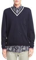Lanvin Men's V-Neck Wool Pullover