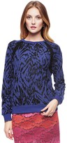 Juicy Couture Ultramarine Bahia Tiger Burnout Top