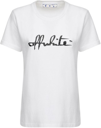 Off-White Script 21 Casual Jersey T-shirt