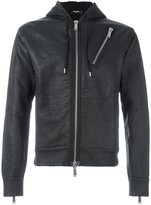 DSQUARED2 cropped zip detail hoodie