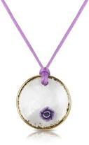 Murano House of Round Glass Pendant w/ Lace