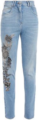 Balmain Embellished High-rise Skinny Jeans