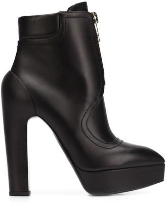 Vera Wang high-heel zip boots
