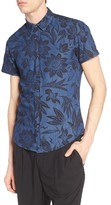 Antony Morato Men's Slim Fit Print Woven Shirt