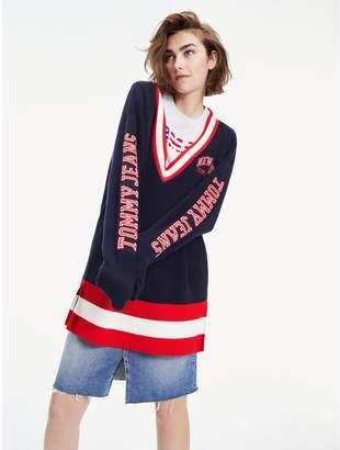 Tommy Hilfiger Oversized Varsity Sweater
