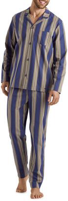 Hanro Men's Night & Day Striped Cotton Pajama Set