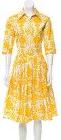Samantha Sung Pleated A-Line Dress