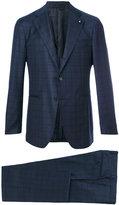 Lardini checked two-piece suit - men - Cupro/Viscose/Wool - 48