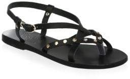 Ancient Greek Sandals Strappy Leather Flat Sandals