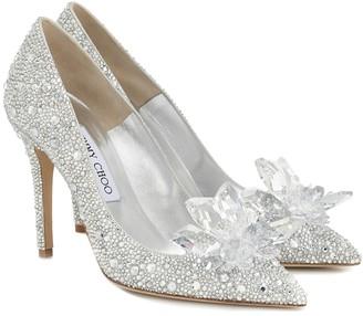 Jimmy Choo Avril crystal-embellished pumps
