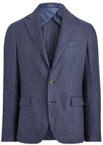Polo Ralph Lauren Pinstripe Linen Single-Breasted Sports Coat