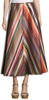 Rosie Assoulin Melted Rainbows A-Line Skirt, Multi
