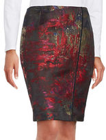 T Tahari Andrea Jacquard Pencil Skirt