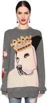 Dolce & Gabbana Dog Intarsia Cashmere Blend Knit Sweater
