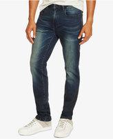 Kenneth Cole Reaction Men's Slim-Fit Dark Indigo Faded Jeans