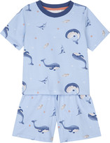 The Little White Company Whale & friends cotton pyjamas 1-6 years