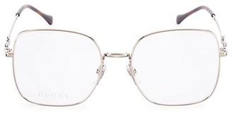 Gucci Logo 55MM Square Optical Glasses