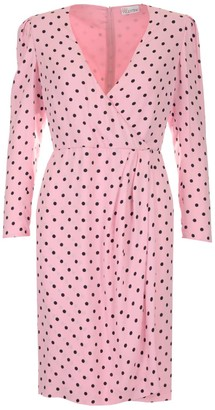RED Valentino Polka-Dot Wrap Dress