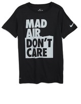 Nike Boy's Dry Mad Air Don'T Care Graphic T-Shirt