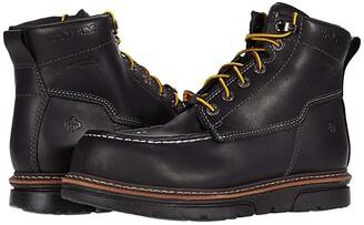 Wolverine I-90 DuraShocks Moc-Toe CarbonMAX 6 Work Boot (Black) Men's Work Lace-up Boots