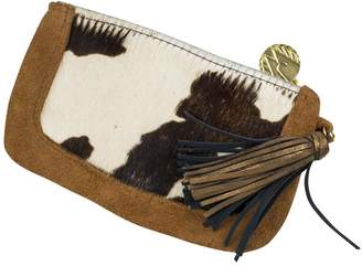 John Wind Maximal Art Calf Hair Tassel Clutch