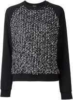 Giambattista Valli flocked effect sweatshirt - women - Cotton/Polyamide/Polyester - 42