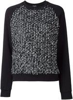 Giambattista Valli flocked effect sweatshirt - women - Cotton/Polyester/Polyamide - 42