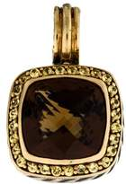 David Yurman Bi-Color 18K Smoky Quartz & Sapphire Albion Pendant