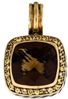 David Yurman Bi-Color 18K Smoky Quartz & Sapphire Albion Pendant