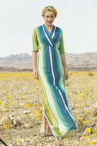 Shabby Apple Jessamine Stripped Chiffon Maxi Dress Green