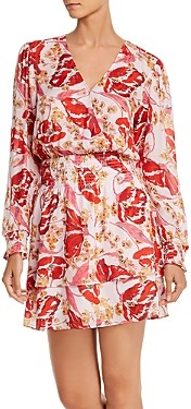 Parker Athens Silk Printed Mini Dress