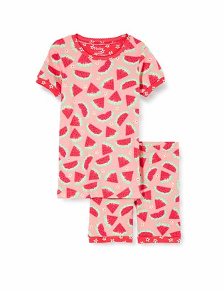 Hatley Girl's Organic Cotton Short Sleeve Applique Pyjama Sets