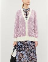 See by Chloe Geometric-print knitted cardigan