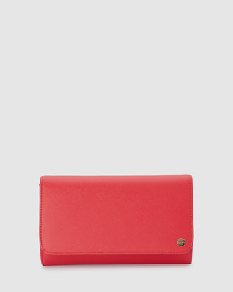 Olga Berg Women's Red Clutches - Anabelle Saffiano Fold Over Clutch - Size One Size at The Iconic