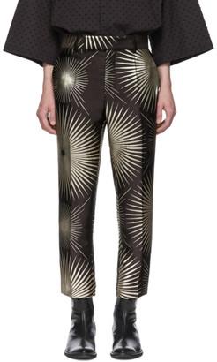 Haider Ackermann Black Silk Skinny-Leg Trousers