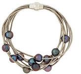 "Honora Cultured Pearl 8"" Multi-strand Scattered Pearl Bracelet"