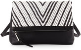 French Connection Charlie Bicolor Crossbody Bag, Black/White