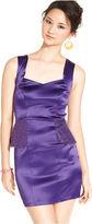 Ruby Rox Juniors Dress, Sleeveless Sequin Peplum