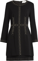 A.L.C. Madison stud-embellished cady dress
