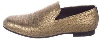 Jimmy Choo Metallic Smoking Loafers